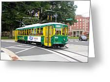 Charlotte Streetcar Line 3 Greeting Card