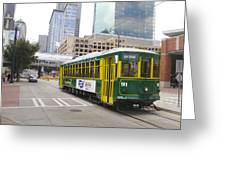Charlotte Streetcar Line 5 Greeting Card
