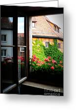 Charming Rothenburg Window Greeting Card