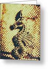 Charming Vintage Seahorse Greeting Card