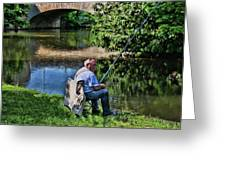 Chartres, France, A Good Day Fishing Greeting Card