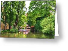Chartres, France, Park On L'eure River Greeting Card