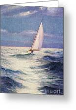 Chas Marer - Sailboat Greeting Card by Hawaiian Legacy Archive - Printscapes