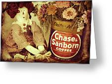 Chase And Sanborn Greeting Card