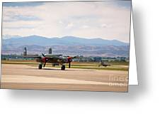 Chase Plane Greeting Card
