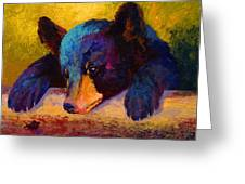 Chasing Bugs - Black Bear Cub Greeting Card