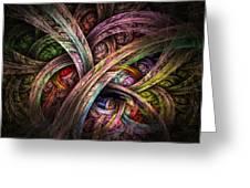 Chasing Colors - Fractal Art Greeting Card
