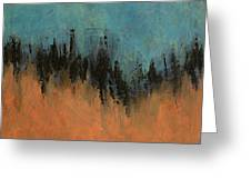 Chasing Stories Abstract Painting Greeting Card