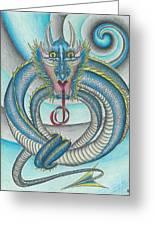 Chasing The Dragon Greeting Card