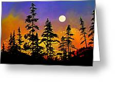 Chasing The Moon Greeting Card