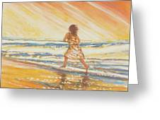 Chasing The Surf Greeting Card