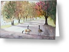 Chat In The Park Greeting Card