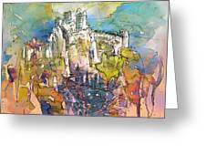 Chateau Cathare De Puylaurens 01 - France Greeting Card