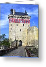 Chateau De Chinon Greeting Card