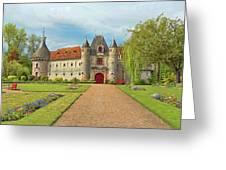 Chateau De Saint-germain-de-livet, Normandy, France Greeting Card