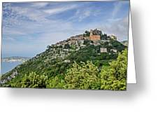 Chateau D'eze On The Road To Monaco Greeting Card