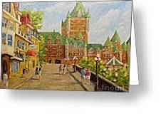 Chateau Frontenac Promenade Quebec City By Prankearts Greeting Card