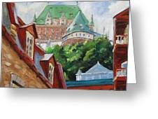 Chateau Frontenac Greeting Card by Richard T Pranke