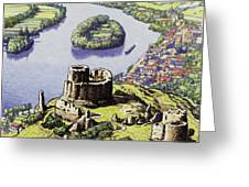 Chateau Gaillard, Also Known As The New Castle Of The Rock  Greeting Card