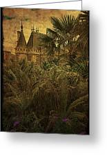 Chateau In The Jungle Greeting Card