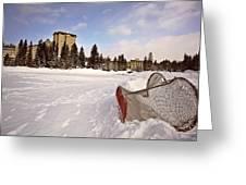 Chateau Lake Louise In Winter In Alberta Canada Greeting Card