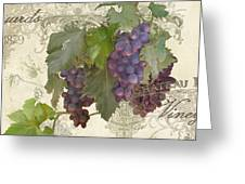 Chateau Pinot Noir Vineyards - Vintage Style Greeting Card