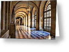 Chateau Versailles Interior Hallway Architecture  Greeting Card