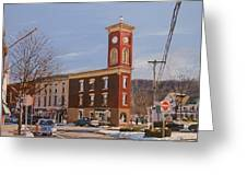 Chatham Clock Tower Greeting Card by Kenneth Young