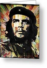 Che Guevara Revolution Gold Greeting Card