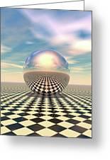 Checker Ball Greeting Card