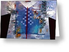 Checkered Kimono Greeting Card