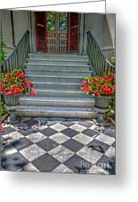 Checkered Tile Greeting Card