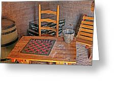 Checkers Anyone Greeting Card