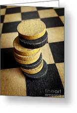 Checkers On A Checkerboard Greeting Card