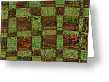 Checkoff Abstract Pattern Greeting Card