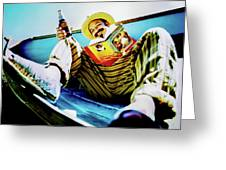 Cheech Marin In Boat Greeting Card