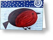 Cheeky Christmas Robin Greeting Card