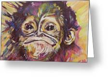 Cheeky Lil' Monkey Greeting Card