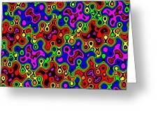Cheerios Pattern Wave Greeting Card