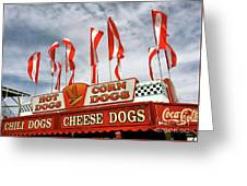 Cheese Dogs Galore Greeting Card