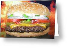 Cheeseburger Deluxe Greeting Card