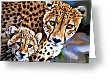 Cheetah Family Greeting Card