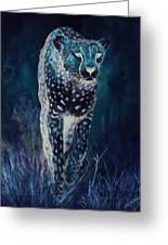 Cheetah Running Greeting Card