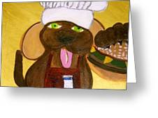 Chef Bow Wow Greeting Card
