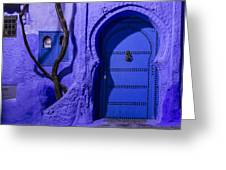 Chefchaouen Hotel Door Greeting Card