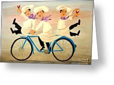 Chefs On A Bike Greeting Card