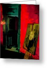 Chelsea Hotel Abstract Greeting Card