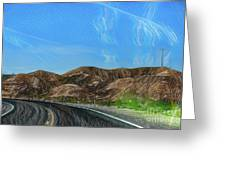 Chem Trails Valley Of Fire  Greeting Card
