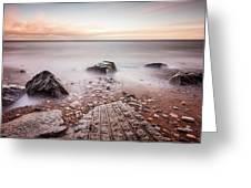 Chemical Beach Tide Greeting Card
