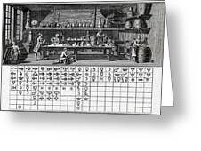 Chemical Lab With Proto-periodic Table Greeting Card